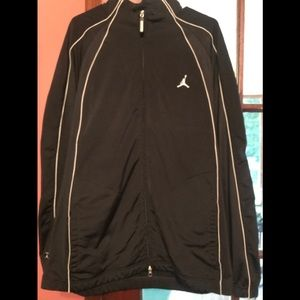 2XL Black/White Striped Michael Jordan 23 Jacket